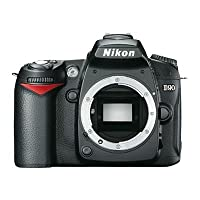 Nikon D90 12.3MP Digital SLR Camera (Black) with 4GB Card, Camera Bag