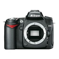 Nikon D90 12.3MP Digital SLR Camera (Black) with 8GB Card, Camera Bag