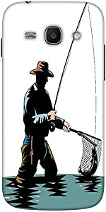 Snoogg Fly Fisherman With Rod And Reel Solid Snap On - Back Cover All Around ...