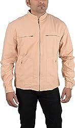LOFT Men's Cotton Jacket (RR01_L, Peach, L)