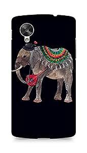 Amez designer printed 3d premium high quality back case cover for LG Nexus 5 (Elephant illust art oana befort dark)