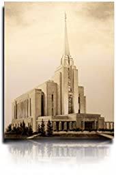 LDS Rexburg Idaho Temple Drawing 8x10\
