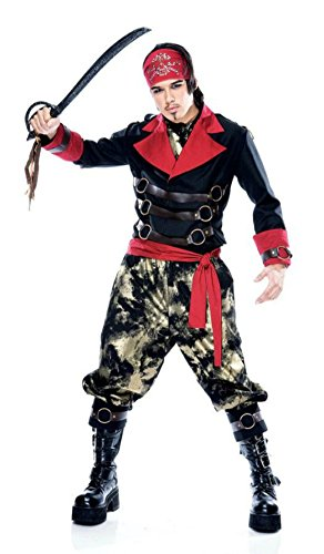 Papermagic Mens Buccaneer Pirate Apocalypse Theme Party Fancy Costume