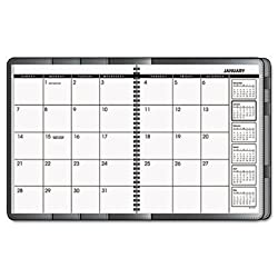 At-A-Glance Plannerfolio 9 x 11 Inch Black Monthly Planner for 2009(7726005)