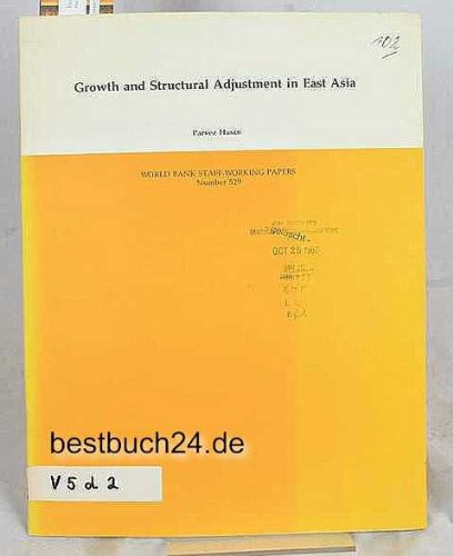 growth-and-structural-adjustment-in-east-asia-world-bank-staff-working-papers