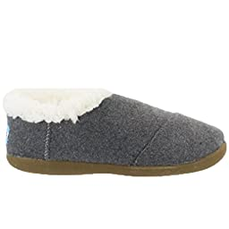 Toms Tiny (Toddler) Black Wool Slippers (8 M (US) Toddler)