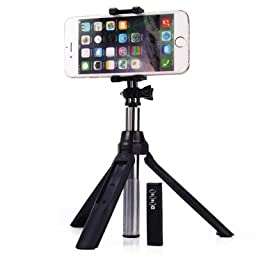 Selfie Stick, i-Kawachi(TM) Handheld & Tripod 2-1 Self-portrait Monopod Extendable Selfie Stick with built-in Bluetooth Remote Shutter