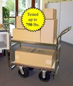 Charnstrom Medium Heavy Duty Industrial Package Cart (B108) (Package Cart compare prices)