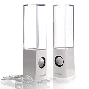Pixnor 2013 USB Powered Colorful LED Fountain Dancing Water Speakers for MP3 Mbile Phones Computer (White)