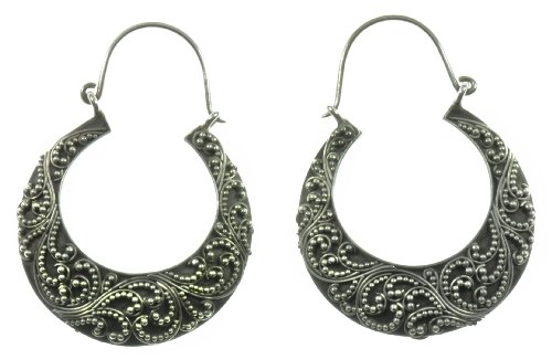 Silver Bow Earring Jewelry of Bali