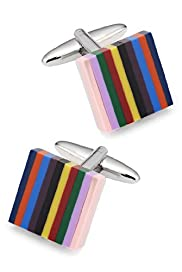 Autograph Multi-Stripe Square Cufflinks