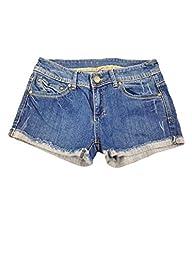 Womens Mid Waist Slim Demin Shorts