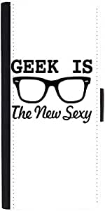 Snoogg Geek Is The New Sexydesigner Protective Flip Case Cover For Apple Ipho...