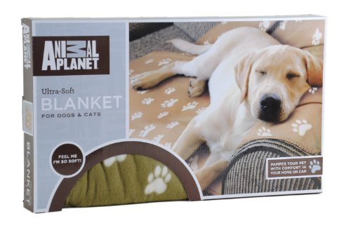 "Animal Planet Ultra-Soft Pet Blanket 63"" X 59"" Tan (Cat Or Dog) front-489121"