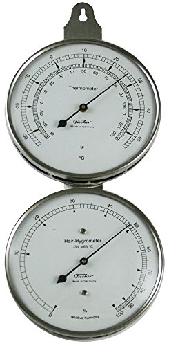 Ambient Weather 118-01 Fischer Instruments Laboratory Grade Indoor/Outdoor Thermometer with Human Hair Hygrometer - 1