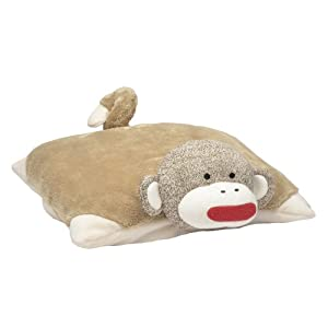 Baby Starters Sock Monkey Pillow, Tan at 'Sock Monkeys'