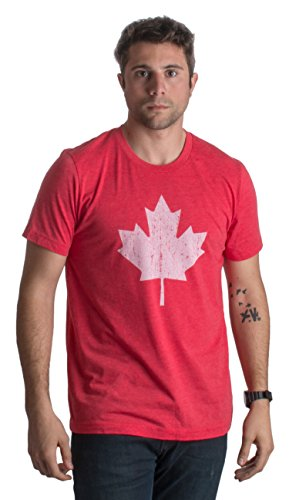Canada Pride | Vintage Style, Retro-Feel Canadian Maple Leaf Unisex T-shirt-Adult,M (Shirt Canada compare prices)