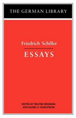 Essays: Friedrich Schiller (The German Library No. 17) (Friedrich Schiller Aesthetic compare prices)