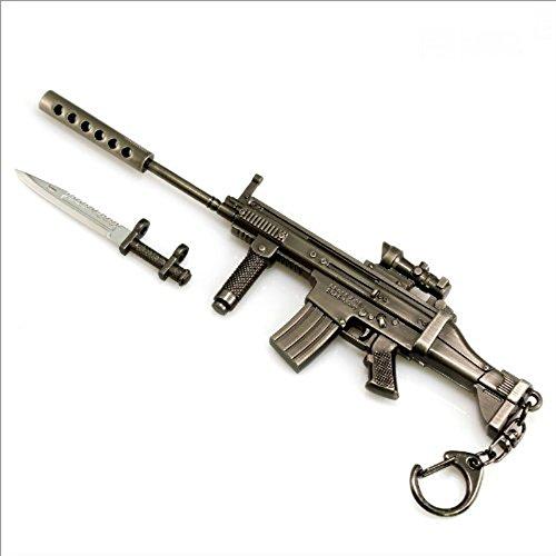Andonger Battlefield 3 Scar-S fucili Metallo Modello Baionetta Gun Keychain militare Ornament Cross Fire