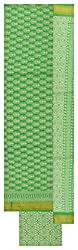 Royal Women's Cotton Unstitched Dress Material (Green and White)