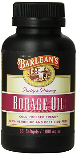 Barlean's Organic Oils Borage Oil, 1000 mg. 60 Count, Bottle