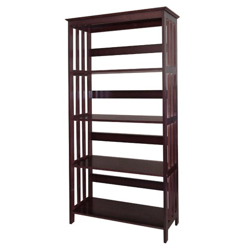 ORE International 4 Tier Bookshelves - Espresso