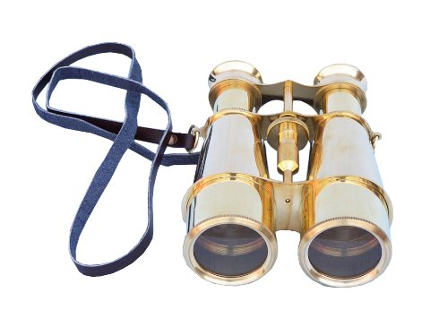 "Captain'S Solid Brass Binoculars 6"" Vintage Binoculars, Nautical Décor, Antique Binoculars, Nautical Gifts, Decorative Binoculars, Nautical Accessories"