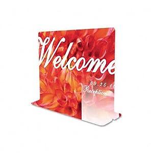 deflect-o Superior Image T-Frame Base Desktop Sign Holder, Plastic, 11 x 8.5 Inches (5991890)