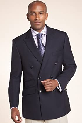 Luxury Sartorial Pure Wool Double Breasted Blazer