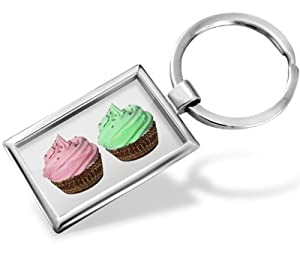 "Keychain ""Cupcake and his friend"" - Hand Made, Key chain ring"