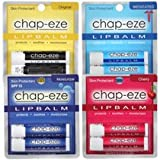 Chap-Eze Lip Balm Variety Pack (2 each 4 colors)