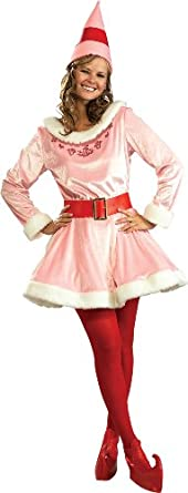 Rubie's Costume Deluxe Jovi The Elf Costume, Pink, One Size