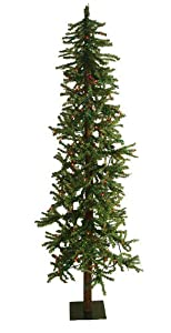 #!Cheap 6' Pre-Lit Two-Tone Alpine Artificial Christmas Tree - Multi Lights