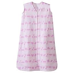 HALO SleepSack 100% Cotton Wearable Blanket, Pink Jungle Line, X-large