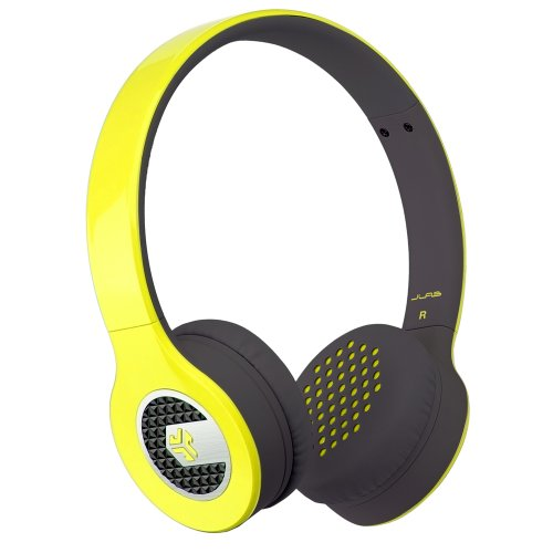 Jlab Supra, Sleek Stereo On-Ear Headphones With Cable And Universal Mic (Yellow)