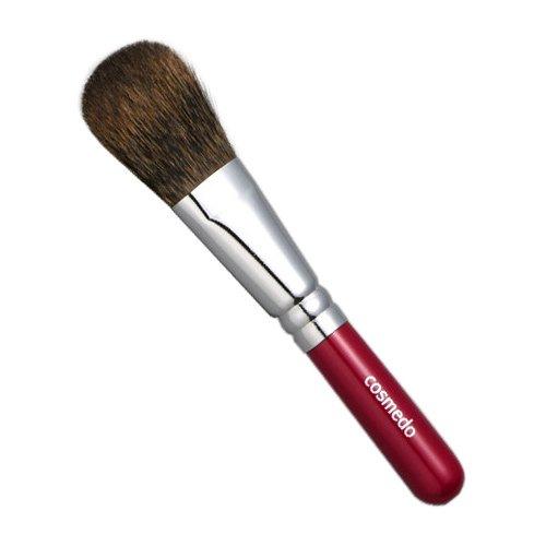 匠の化粧筆コスメ堂 熊野筆メイクブラシ ショートタイプ 松リス100%チークブラシ平筆タイプ