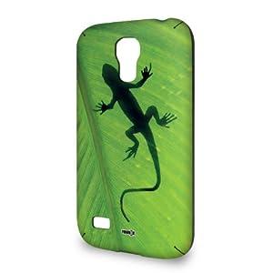 Handyschale Handycase für Samsung Galaxy S4 mini i9195 veredelt mit YOUNiiK Styling Skin - Gecko