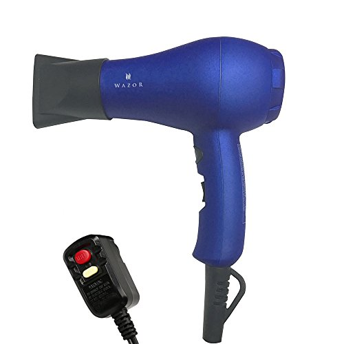 Wazor Hair Dryer Ionic Ceramic Blow Dryer Mini Size For Travel or Children With Cool Button Blue (Hair Dryer Ceramic Travel compare prices)