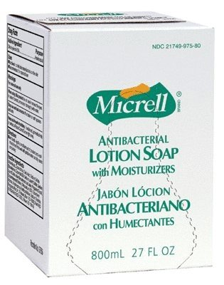 GO-JO INDUSTRIES MICRELL Antibacterial Lotion Soap Refills 6 Bags per Case
