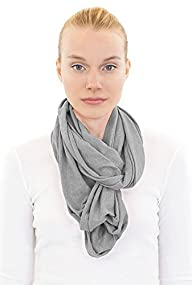Unisex Bamboo Organic Cotton Circle Soft Light Weight Solid Scarf for Girls Scarf for Women Scarf…