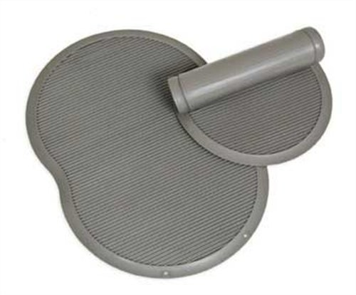 Petmate Le Bistro Single Pet Food Mat, Gray,