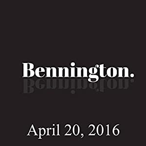 Bennington, April 20, 2016 Radio/TV Program
