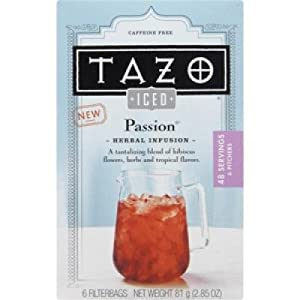 Tazo Iced Passion Tea 6-Count (Pack of 4)