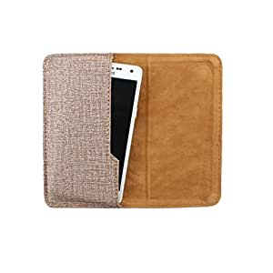 DooDa PU Leather Pouch Case Cover With Card / ID Slots For Spice Stella Guide 438