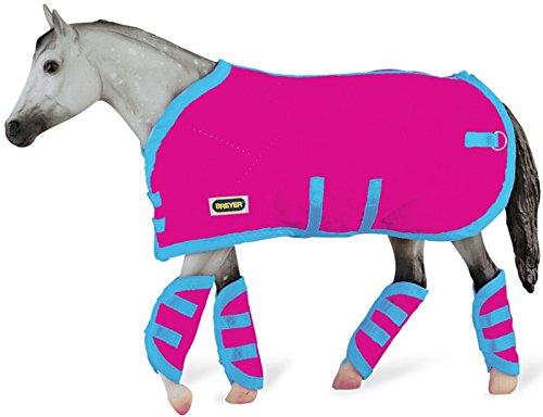 breyer-traditional-19-3948-decke-mit-transportgamaschen-hot-pink-ohne-pferd