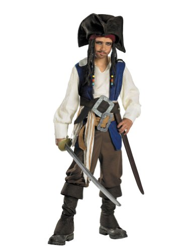 Child Jack Sparrow Deluxe Costume 7-8 Kids Boys Costume