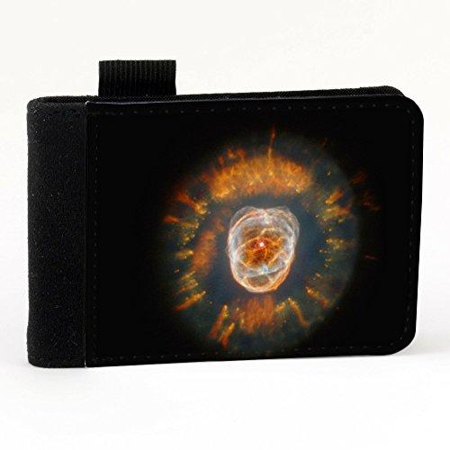 Spazio 10141, Nero Polyester Piccolo Cartella Congressi block notes Tasca Taccuino con Fronte di Sublimazione e alta qualità Design Colorato.Dimensioni A7-131x93mm.