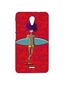 VDESI Designer Matte Back Cover For Micromax Unite 2 (A106) - Guy_Bord_Goa (Red)