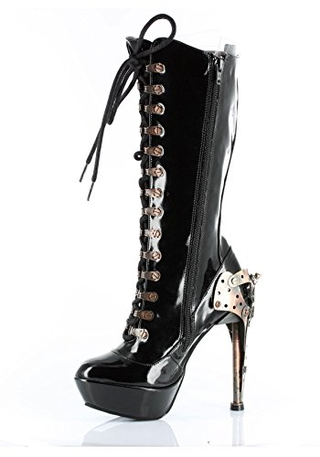Hades-Womens-Zeppelin-Knee-High-Riveted-Eyelet-Lace-up-Boots