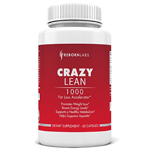 Crazy Lean | Best Weight Loss Pills | Appetite Suppressant and Fat Burner | 30-Day Supply | Attacks Stubborn Fat Cells | With Caffeine, Synephrine, Yohimbe, Picamilon, and More | Synergistic Ingredients | Energy, Libido, and Mood Enhancer | For Men and Women